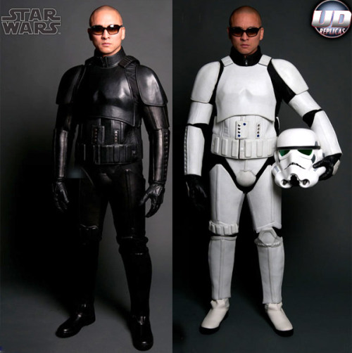 Pretty sweet Stormtrooper motorcycle leathers. You get the jacket, pants,gloves,and boots for about $1,143!