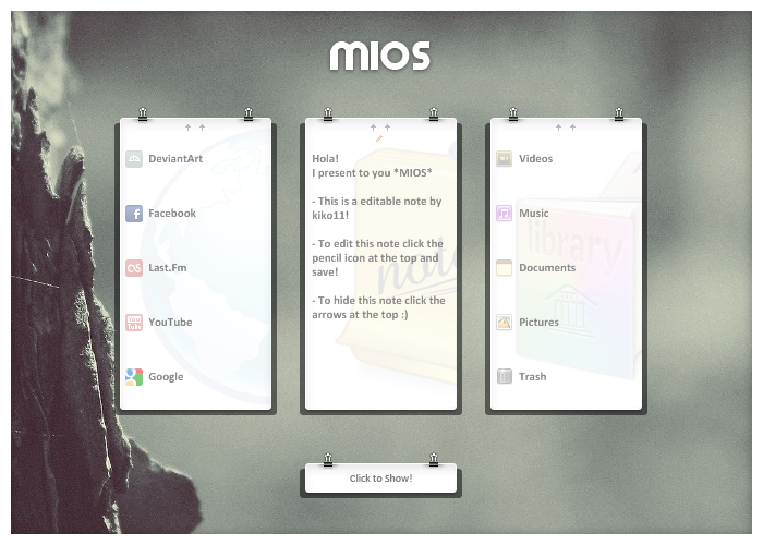 Rainforest skin, just milk and clean ui. Beautifull  (via Mios by =kiko11 on deviantART)