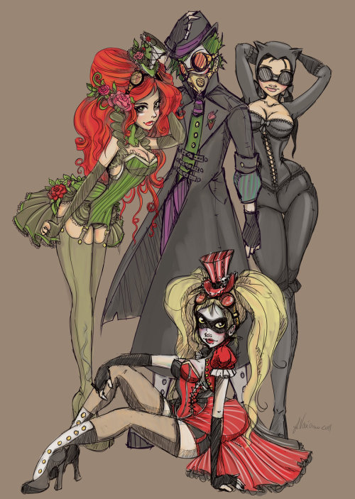 Alternate Victorian Villains by ~NoFlutter