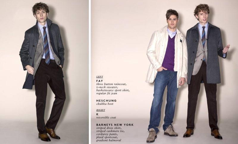 Aiden Andrews & Jacques Naude for Barneys New York Outerwear Lookbook (2011)