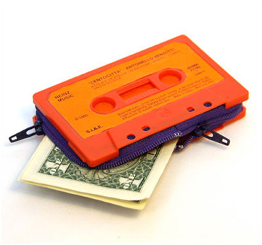 Cassette tape wallet by marcella foschi via Design Boom