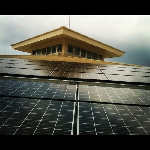 100kW grid connected PV system @ social center #solarGeneration #maldives  #male'  (Taken with Instagram at MCSE)