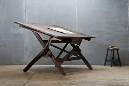 Beautiful drafting table.