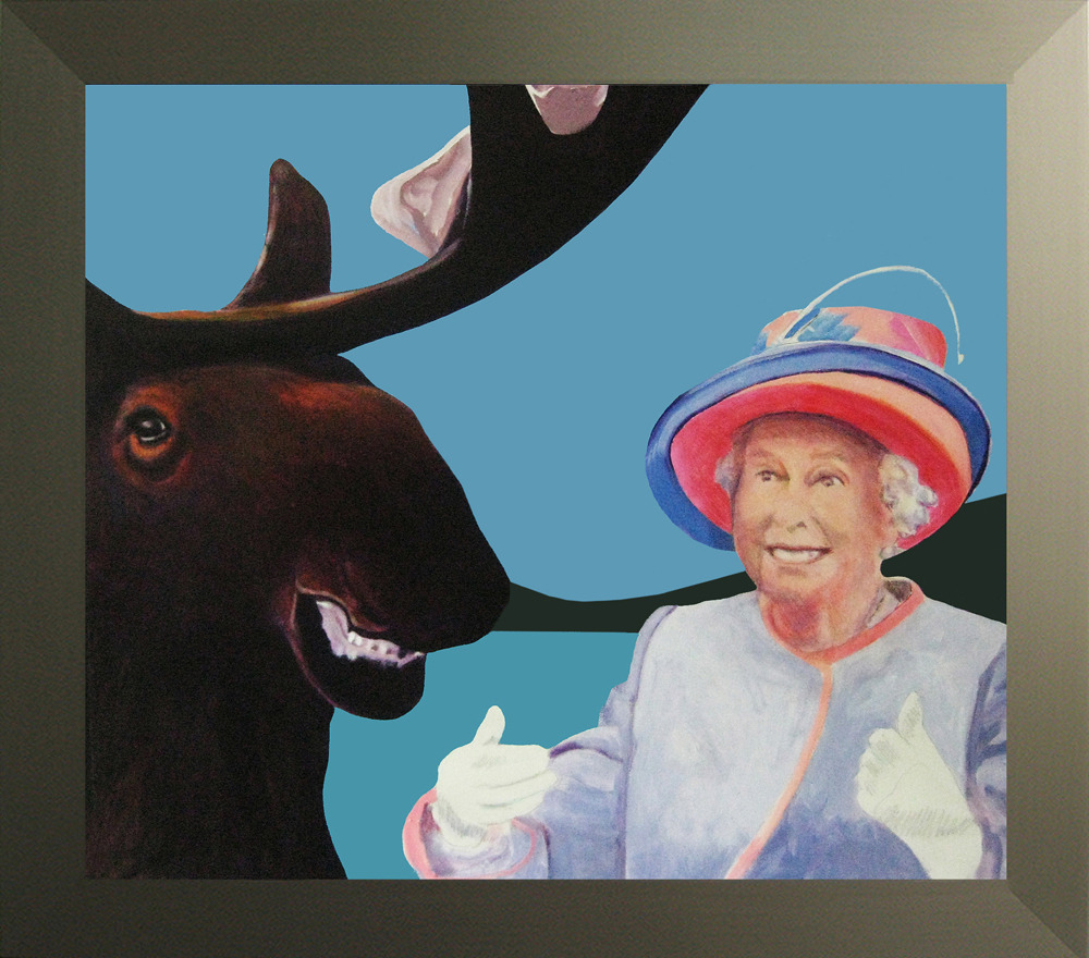 "nparts:  Royals with cheese at the Beaverbrook Art GalleryA lot of Canadians didn't like it when Charles Pachter first showed them an image of their Queen atop a moose.""I've been exploring the whole post-colonial British thing in Canada ever since I can remember; 1973 was the first image I did of the Queen on a moose, which caused a scandal at the time,"" says the Toronto artist, who has two cheeky takes on the House of Windsor currently showing at the Beaverbrook Art Gallery in Fredericton. Highnesses-in-Training Greet Monarch of the North, painted this year, depicts ""Kate and Wills"" meeting a moose. Laughing Monarchs is a 2008 example of Pachter's Queen-and-moose theme. (Regarding the titles, he explains that as a schoolboy he learned that the moose was ""monarch of the North."")Terry Graff, curator and deputy director of the New Brunswick public gallery, says a pair of events set the stage for its show of Royal likenesses: the wedding of Prince William and Kate Middleton, and the restoration of a centuries-old Tudor scene rescued from an Irish castle."