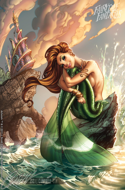 tintasdeluna:  The Little Mermaid FTF 2012 by *J-Scott-Campbell