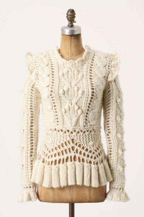 princess-steppenwolf:  Bobbled Cableknit Sweater