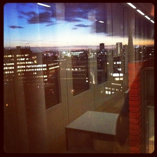 Sunset through a window  (Taken with Instagram at Mindshare)