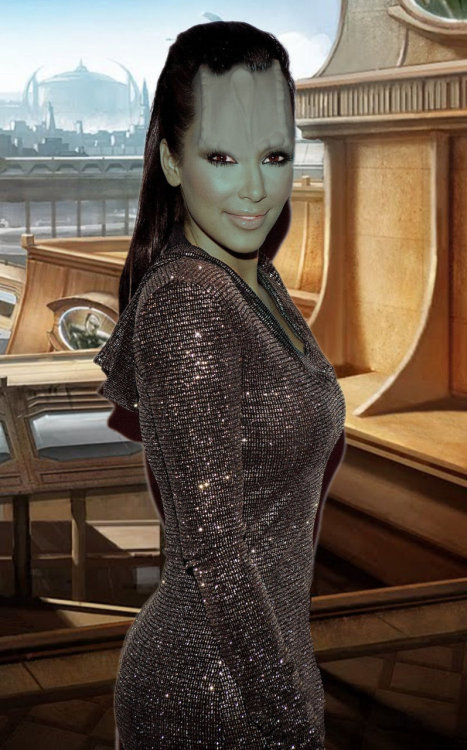 And here's Kim Kardashian as a Cardassian.