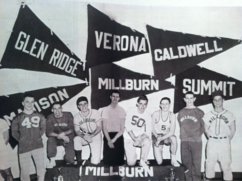 An oldie of my gramps when he was millburn football captain back in the day (number 50)