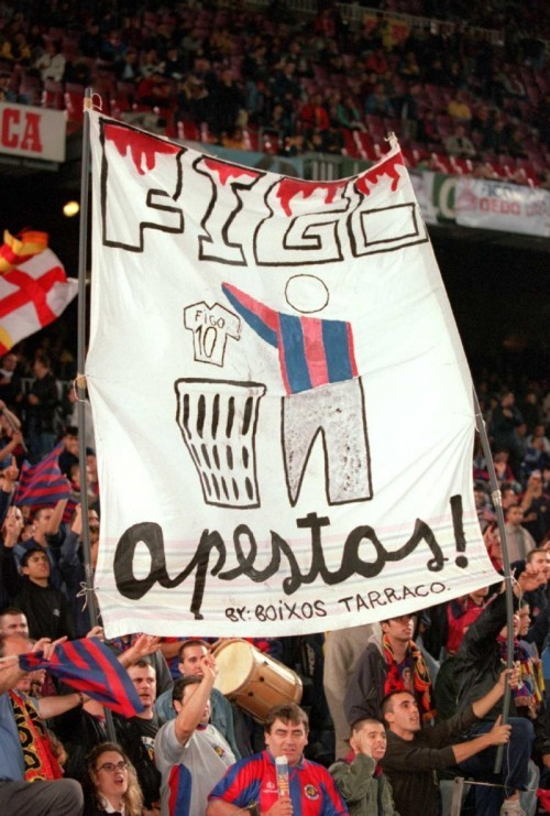 This, forever.  steenyweeny:  seventh el clasico of 2011 and first of the 2011-12 season tomorrow. i got my colours on and they're staying on for like the next 36 hours or something. puta madridistas. hisssss. [more cool old clasico photos if you care and click on this one]