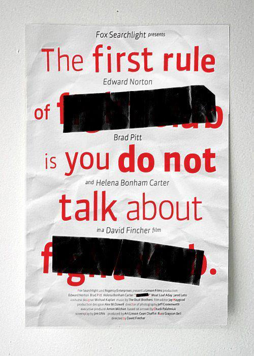 spitfirewhiskeytango:  cultfilms:  first rule of  ██████ is you don't talk about  ██████