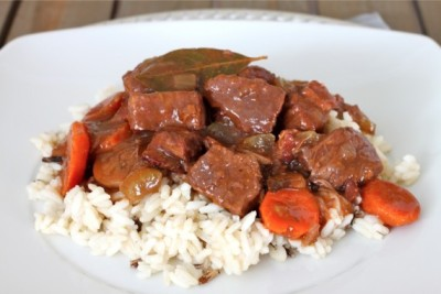 Beef Bourguignon with recipe (link)