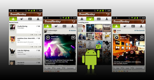 "Got an Android phone?  Welcome to SoundTracking for Android! We've been working hard here at Schematic Labs to make our SoundTracking app and service the best social app for music fans on the iPhone, iPod Touch and iPad.  However, since the time we first launched in March of this year, we've been receiving an increasing amount of email, tweets, facebook posts and passing comments in cafes that Android users love music too.  We heard you loud and clear. :-) We're happy to present to you our all-new SoundTracking for Android!  We've got a few new features for you, in addition to what you might have seen in the iPhone app: One-tap full song playback using RDIO or Spotify Instant ""in-the-background"" song recognition of what's playing on your Android phone, with an easy option to soundtrack that song. Automatic music artist @mentions when posting songs to your Twitter feed. (The music artist will see your SoundTracking tweet!) And all the free MusicID functionality and complete FB, Twitter and Foursquare integration, that our user community has come to know and love. Please install it on your Android phone and let us know what you think.  We'll have frequent updates to fix issues, enhance performance, and add new cool features.   Thank you!"