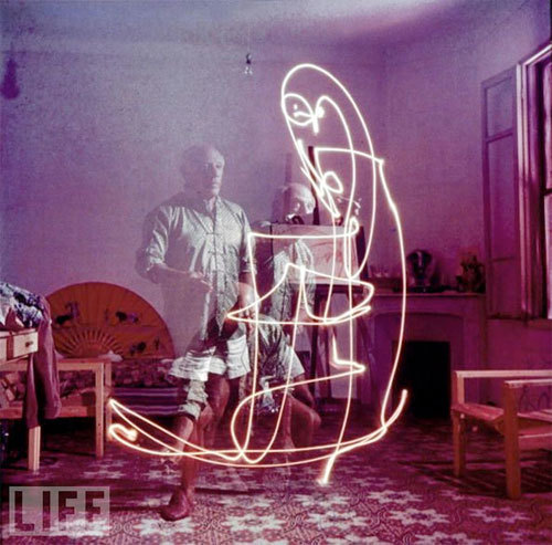 Picaso light drawings.