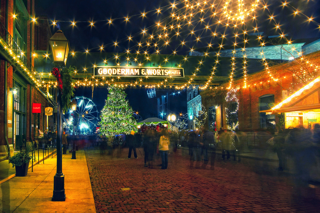 Toronto Christmas Market in Distillery Hystoric District by Dec. 18.  Grab a cup of coffee with a liquor and sit there around a fireplace in funky chairs listening for christmas carols choir. This will make your day!  http://www.bielousov.com/2011/toronto-christmas-market/