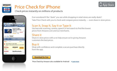 From the Chicago Tribune:  Amazon Price Check app draws protests from some retailers: Critics say the app creates unfair competition in states where Amazon does not pay sales taxes.