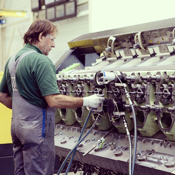 #GE technician Franz Lechthaler working on a J624 Jenbacher gas #engine in Jenbach, Austria.   And don't forget to check out the GE Instagrapher contest at http://facebook.com/GE We're taking submissions through the weekend, so get shooting and tag your Instagram photos #GEInspiredME for the chance to shoot at an awesome GE Aviation facility in the UK. #technology #manufacturing  (Taken with instagram)