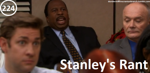 "Great Things About The Office - #224 - Stanley's Rant   ""I've been here 18 years and suffered through some weird thematic Christmases. A Honolulu Christmas, A Pulp Fiction Christmas, A Muslim Christmas, A Moroccan Christmas, a Mo Rocca Christmas! I don't want it."" -Stanley"