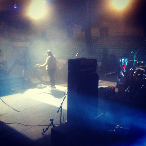 esthercreative:  The Gaslight Anthem soundcheck at The Asbury Park Convention Center. 12/9/11