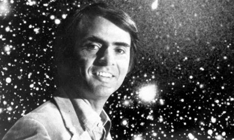 "ikenbot:  Difference Between Astronomy and Astrology by Carl Edward Sagan — From Cosmos: A Personal Voyage There are two ways to view the stars, as they really are.. or as we might wish them to be. These, are the Pleadeas a group of young stars leaving their stellar nurseries, gas, and dust, and this.. is the Crab Nebula, a stellar graveyard where gas and dust are being dispersed back into the interstellar medium. Inside it lies a pulsar. Both the Pleadeas and the Crab Nebula are in a constellation where Astrologers long ago named Taurus The Bull, They imagined it to influence our daily lives. Astronomers say, that the Planet Saturn is an immense globe of hydrogen and helium and circled by a ring of snowballs 50,000 Kilometers wide and that Jupiter's great red spot was a giant storm raging for perhaps a 1,000,0000 years. But Astrologers see the Planets, as affecting human character and fate. Jupiter represent a regal baring and a gentle disposition and Saturn the gravedigger fosters they say, stress, suspicion & evil. The Astronomers Mars was as real as the Earth, a world awaiting exploration. But the Astrologers saw Mars as a warrior a creator of quarrels, violence, and destruction. Astronomy and Astrology were not so distinct, for most of human history the one encompassed the other. But there came a time when Astronomy escaped from the confines of Astrology. The two traditions became to diverge in the life and mind of Johannes Kepler. It was he who demystified the heavens by discovering that a physical force laid behind the motions of the Planets. He was the first astrophysicist and the last scientific astrologer. Intellectual foundations of astrology were swept away 300 years ago and yet it is still taken serious by yet many people. You ever notice how easy it is to find a magazine about astrology? Virtually every newspaper in America has a column on Astrology. Almost none, have even a weekly column on Astronomy. People wore Astrological pendants, checked their Horoscopes before leaving the house, even our languages preserve some astrological consciousness. For example take the word, ""Disaster"" it comes from the Greek for ""Bad Star"" Italians believed disease was caused by the influence of the stars its the origin of our word ""Influenza"". The Zodiacal signs used by Astrologers even ornament this statue of Prometheus in New York City. Prometheus, who stole fire from the gods…"
