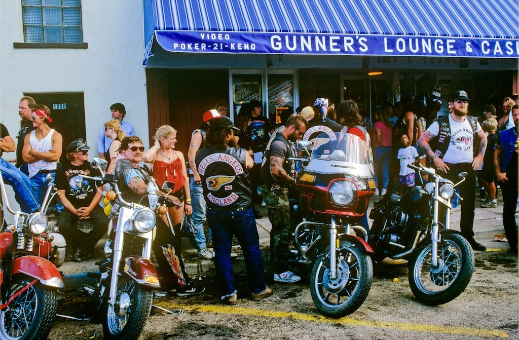 Gunners Lounge 50th Sturgis 1990 was always the place where the Hells Angels hung out.