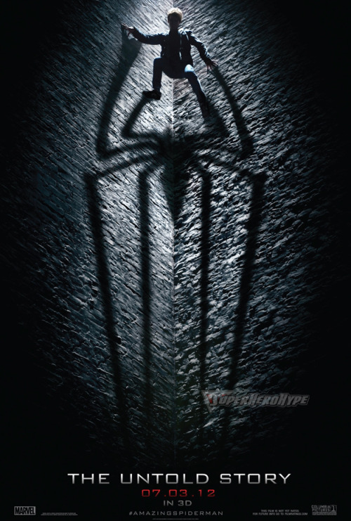 "Marvel at Midnight Here is the new poster for The Amazing Spider-Man, but notice the tag-line ""The Untold Story""? That is very, very, very intentional. Seems the marketing department at Sony got cold feet and decided to not use the word ""reboot"" with this franchise any longer. Some of it had to do with the trailer getting mixed reviews. Instead the angel will be that this movie takes place during a time we didn't see in the first Spidey films. Which we all know isn't true. This is a reboot, no way around it."