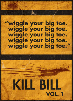 minimalmovieposters:  Kill Bill Vol 1 by infxionsdimension