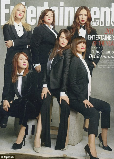 The cast of Bridesmaids on the cover of Entertainment Weekly.