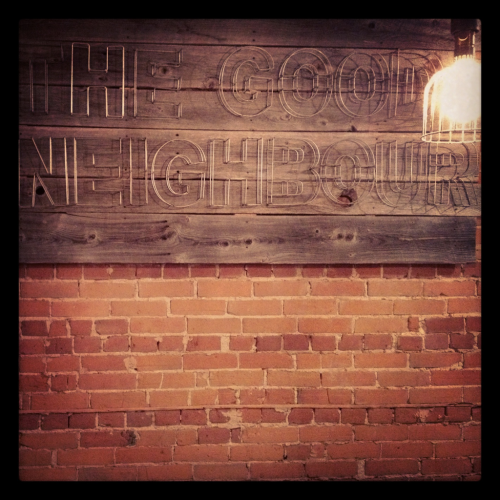 The Good Neighbour (The Junction): One of the quaintest coffee joints in Toronto. Real nice cocoa, too.