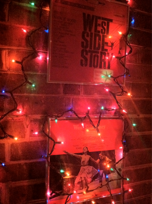 Christmas in my apartment always begins with lighting up West Side Story :)…I'm a nerd I know…