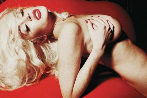 hommeboyz:  HOT DAMN!  Lindsay Lohan's playboy spread. Hot Damn indeed.