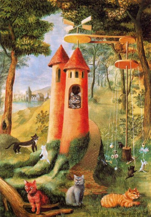 thepowerofart:  Remedios Varo, The Cat's Paradise, 1956.