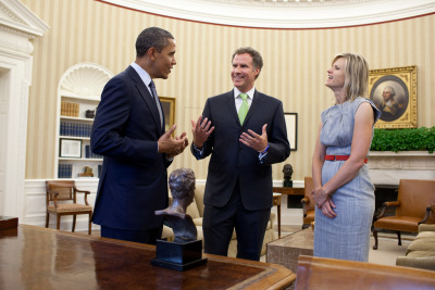 awesomepeoplehangingouttogether:  President Obama and Will Ferrell