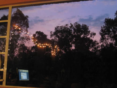 sunset in my window… PURPLE XD