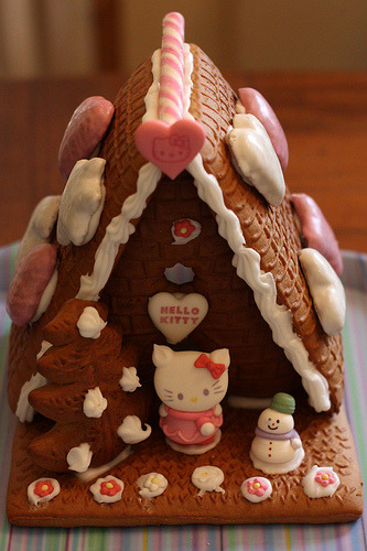 hello-kitty:  Hello Kitty Gingerbread House