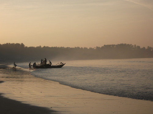 Early morning in Palolem, India, 2009.  Notes on my here and now, but to begin a happy memory.