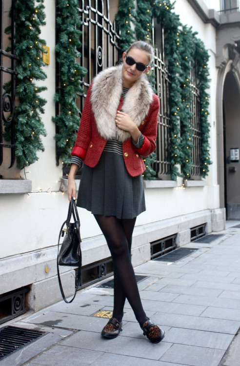 love the outfit.   theclotheshorse:  Paulien of Polienne