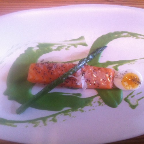 Confit salmon (Taken with Instagram at The Estelle)