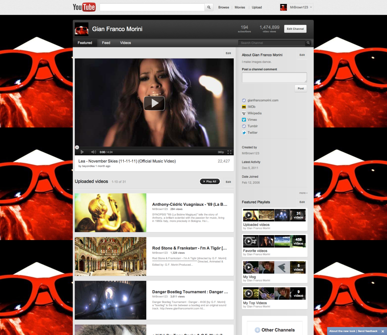 Check out the re-designed and updated YouTube Channel: http://www.youtube.com/user/MrBrown123?feature=mhee