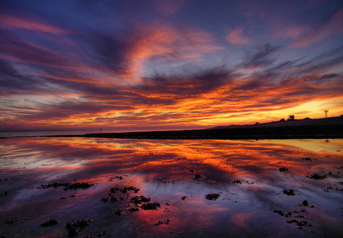 acureforreality-:  Stokes Bay Sunset by BlackCatzz on Flickr.