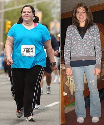 lucyweightloss:  mywaytohealthy:  this is inspiring, she lost 125 pounds in 16 months, check her blog out… http://www.runsforcookies.com/  She looks so much younger after she lost all the weight!! Wow