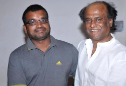 Superstar Rajinikanth with an unit member of Eeram