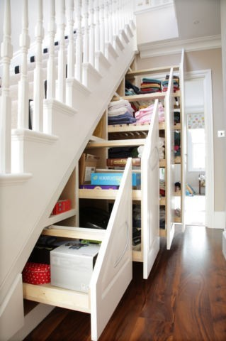 Decorations & Decor Tidy storage space beneath the stairs