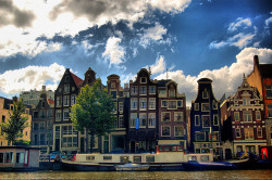 Amsterdam - Along the Canals by Coussier on Flickr.
