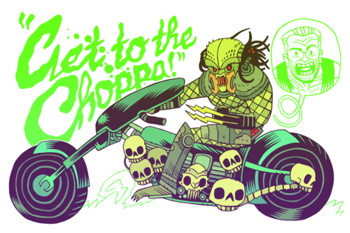Get to the Choppa! by Dan Hipp
