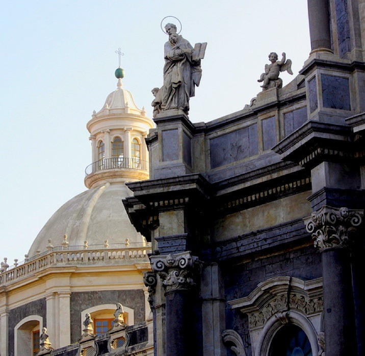 | ♕ |  Cathedral of Santa Agatha- Catania, Sicily   | by © oriana.italy