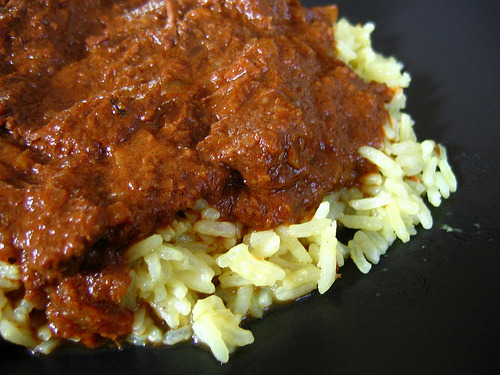 Rogan Josh and rice!