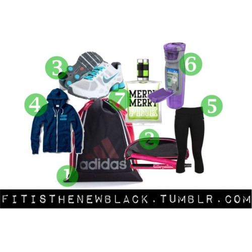 Gifts for the Gym Junkie by whatitfeelslike4agurl featuring a navy hoodie TOMS navy hoodie, $48 Reebok capri activewear, £46 Nike lightweight running shoes, $120 Sports bag, $20 Victoria'S Secret Holiday Collection Merry Merry Pink™ Eau De Toilette, $24 SEPHORA COLLECTION Mini Flat Iron & Pouch Black, $15 Amazon.com: Contigo AUTOSEAL Kangaroo 24-Ounce Water Bottle with…, $13