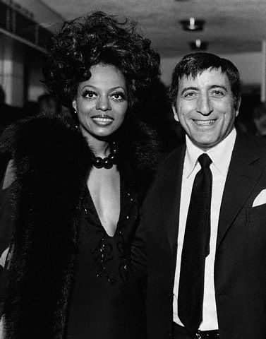 "Diana Ross at the London premiere of ""Lady Sings the Blues"" with Tony Bennett on April 5, 1973. Photo: Hulton-Deutsch Collection/Corbis."