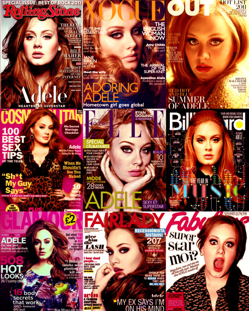 dilara19:  ADELE magazine covers